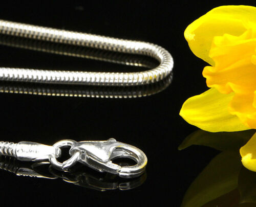 "CH080//B RRP£20!!! ITALIAN Snake Sterling 925 Silver Chain 1.2 mm 16/""//41cm"