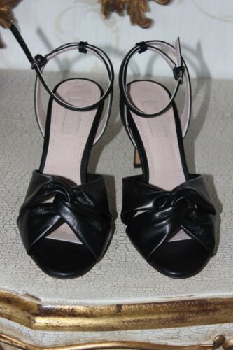 Ladies Ankle Summer Black Size Topshop Sandals 5 Faux Strap scarpe Heels Leather w8tnqURg