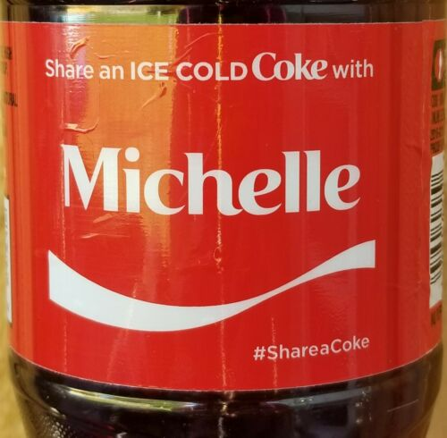 Summer 2017 Share A Coke With Michelle 20 Oz Coca Cola Collectible Bottle