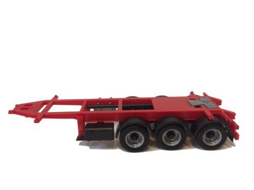 chasis rojo Herpa 20ft//26ft tráiler 3 alineación