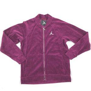 3c426e75831 Air Jordan Velour Full Zip Track Jacket Bordeaux Red White AH2357 ...
