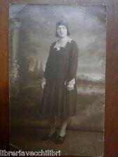 Vecchia foto artistica SIGNORA ITALIANA anni 20 Belle epoque Post Card VITAVA di