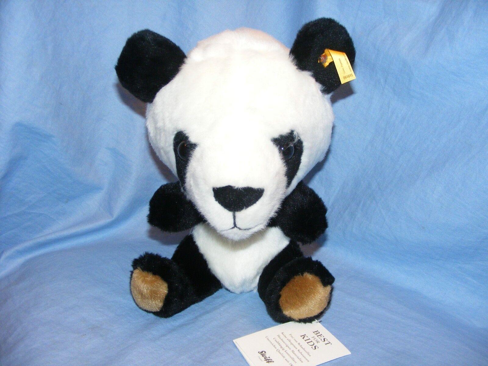 Steiff TOM Panda Morbido Peluche Giocattolo Regalo di Compleanno Battesimo Nuovo di Zecca