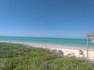 Venta de espectacular terreno frente al mar en la paradisiaca costa Yucateca