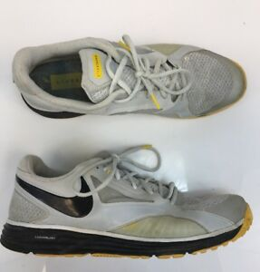 the best attitude e07c0 f7b34 Image is loading Nike-Men-039-s-Gray-Yellow-Flywire-Lunar-