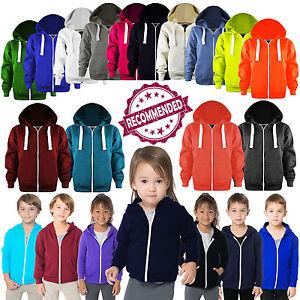 New-Unisex-Kids-Boys-Girls-Zip-Hoodie-Hoodies-Sweatshirt-Fleece-Jumper-Top-3-13