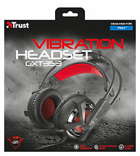 Fidati DI GIOCO SERIE 21302 gxt353 Active Bass Vibration CUFFIE USB PER PC ps4 &