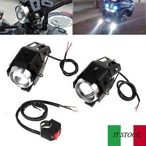 2pz-15W-U5-LED-Faretti-Frontali-Fendinebbia-da-Moto-con-Interruttore-Universale