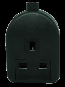 13 Amp un Gang noir High impact Extension Socket
