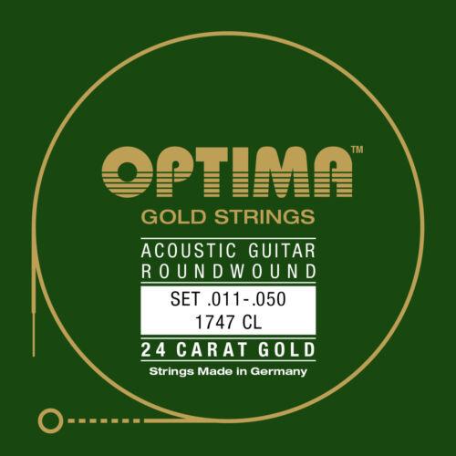 Optima 24K Gold Acoustic Strings 11-50