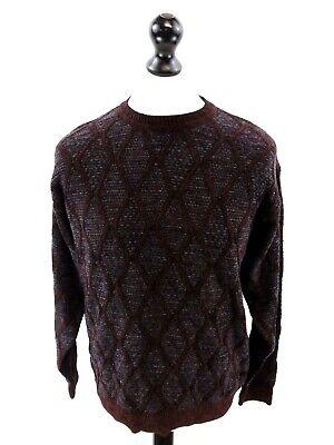 Alberto Danti Mens Jumper Sweater L Large Purple Blue Grey Delikatessen Von Allen Geliebt