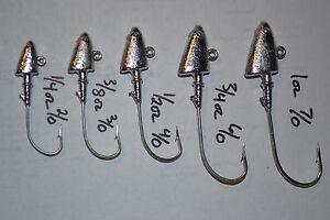10 SHAD Head Jigheads - SWIM BAITS - 1/4 thru 2oz- SALTWATER SAFE 1/0 THRU 7/0