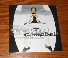 Tevin Campbell Back to the World Card Handbill 1996 Promo 6x6
