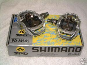 cba4c213c17 Image is loading Shimano-M545-MTB-SPD-Pedals-For-Flat-or-