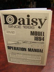 daisy model 1894 operations manual ebay rh ebay com daisy model 1894 repair manual daisy model 1894 repair manual