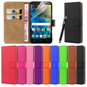 Wallet-Flip-Book-Leather-Card-Case-Cover-Pouch-For-Various-Mobile-Phones