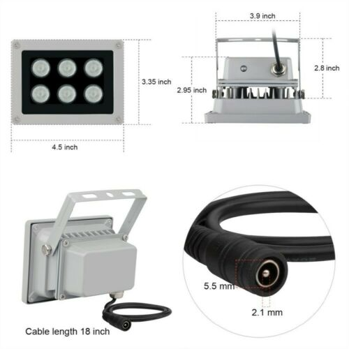 für CCTV-Kameras ACTii Reflektor 6x IR-Strahler ARRAY IR 40m 90st Outdoor