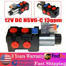 12v Hydraulic Solenoid Operated Selector Diverter Valve 12 Volt Dc Hsv6 C 13gpm