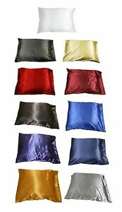 1pc-New-Queen-Standard-Silk-y-Satin-Pillow-Case-Multiple-Colors