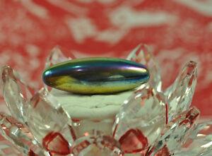 Emerald LEKLAI Rainbow 7 color magnet Natural Torpedo Shape Thai buddha AMULET M