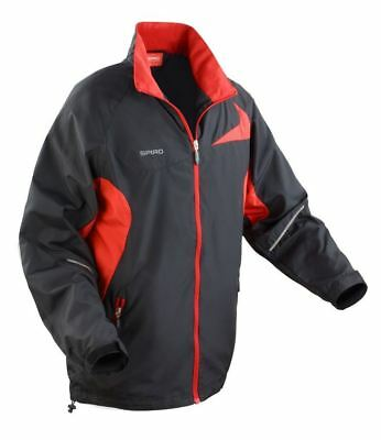Spiro Micro-Lite Team Jacket Mens Actve Sports Wear Waterproof Full Zip Coats