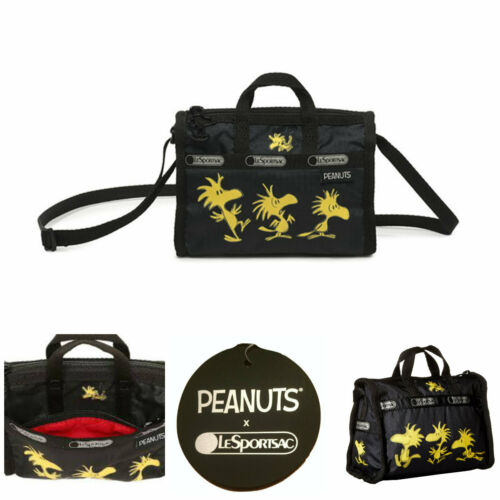 LeSportsac Peanuts Woodstock March Petite Weekender Crossbody Bag Free Ship NWT