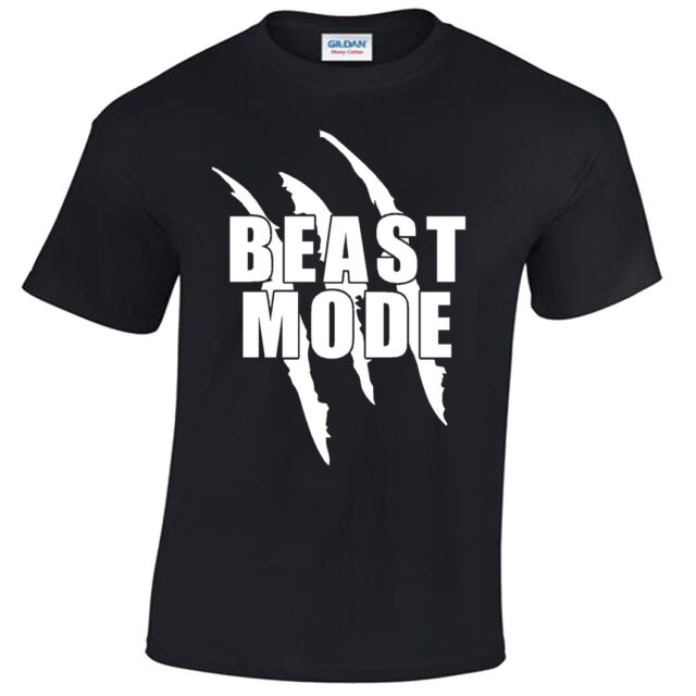 Kettle Beast Mens Funny Gym T-Shirt Training Top MMA Bodybuilding Mode Weights