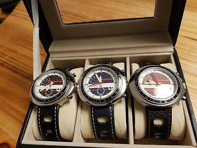 Jewelry & Watches 3pcs Sears Automatic Watch Tachymeter Scale Daydate Nos-style In Leather Box Comfortable Feel