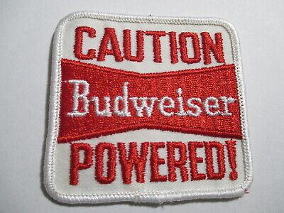 Rockabilly Biker Vest Beer Collectors Patch Vintage 70s CAUTION Schlitz POWERED