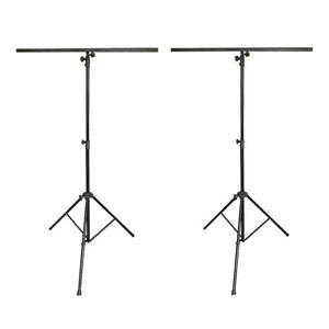 2x-Thor-LS002-Lighting-Stand-Tripod-T-Bar-for-Light-Effects-DJ-Disco-2-8M-Height