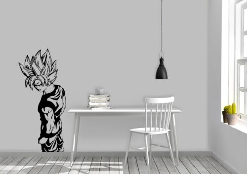 Goku Full Body Dragon Ball Anime Design Bedroom Wall Art Decal Vinyl Sticker