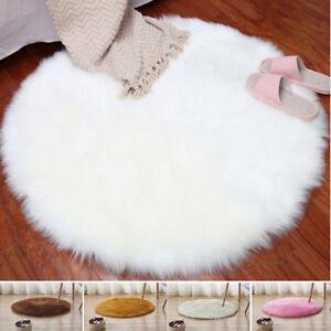 fausse fourrure peau de mouton tapis anti d rapant. Black Bedroom Furniture Sets. Home Design Ideas