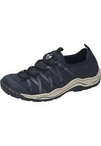 Rieker Sneaker Slipper Damenschuhe blau 36 - 43 L0559-15 Neu7
