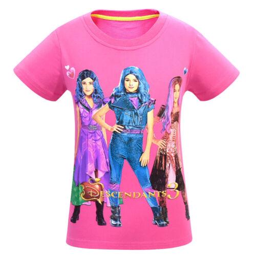 New Descendants  Cartoon Tee shirt Toddle Girls Tops Kid Home Pajamas