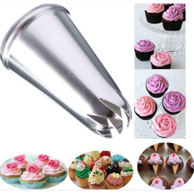 Drop Rose Flower Cup Ice Cream Piping Tip Nozzle Cake Decorate Craft Pastry Kit