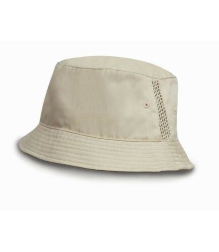Result  Deluxe Washed Cotton Bucket Hat Headwear with side Onesize Unisex