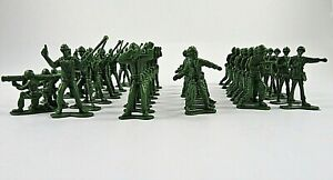 Green-Army-Men-Toy-Plastic-Soldiers-Miniature-Figures-Lot-Of-48-Pieces-1-75-Inch