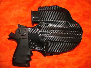 LEFT HAND HOLSTER COMBO W Extra Mag BLACK KYDEX FITS DESERT EAGLE 357 44 50