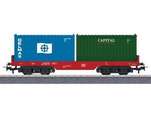Maerklin-44700-H0-AC-Start-Up-Containertragwagen-beladen-DB-Neu