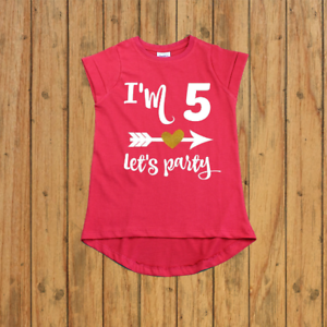 Image Is Loading Girl Fifth Birthday Shirt Five Year Old