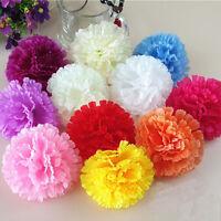 100 Carnation Pick 5 Artificial Silk Flowers With Stem Floral Decor- U Choose