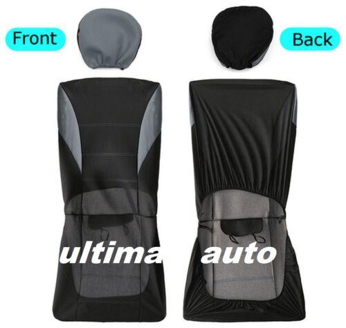 9 pcs Full Grey Fabric Car Seat Covers Set VW LUPO TIGUAN CADDY PASSAT BORA POLO