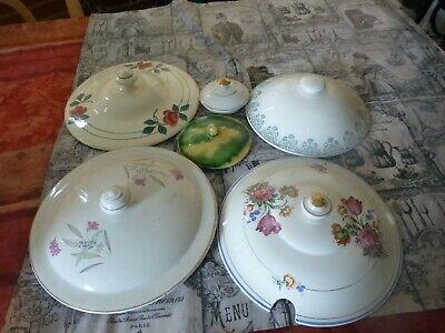 Betrouwbaar Lot Faience ,porcelaine Bouchons De Soupiéres Déco =cassons =pique/assiette
