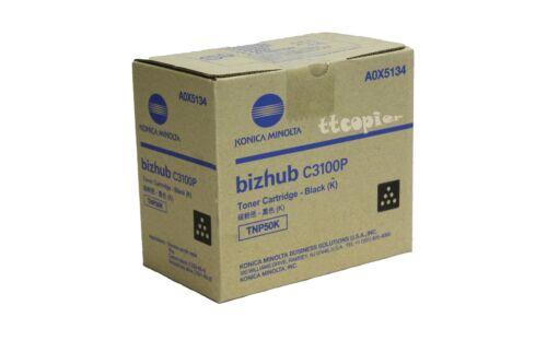 A0X5134 TNP50K GENUINE KONICA MINOLTA BLACK TONER CARTRIDGE FOR BIZHUB C3100P