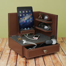 """""""Rustic Modern"""" Corner Multi-Device Charging and Sunglass Station Dock Valet"""