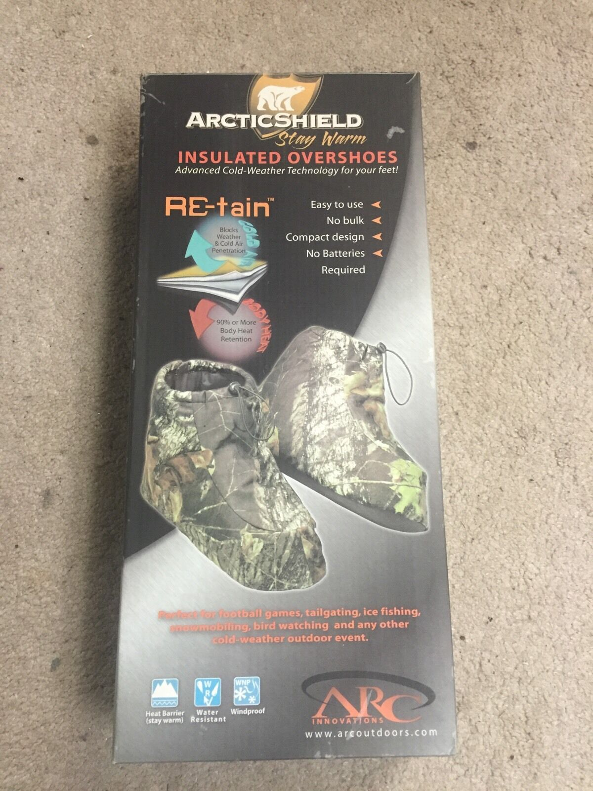 Arctic Shield Camo Boot Insulators-Small-S-(6-7)Realtree Camouflage Print 523000