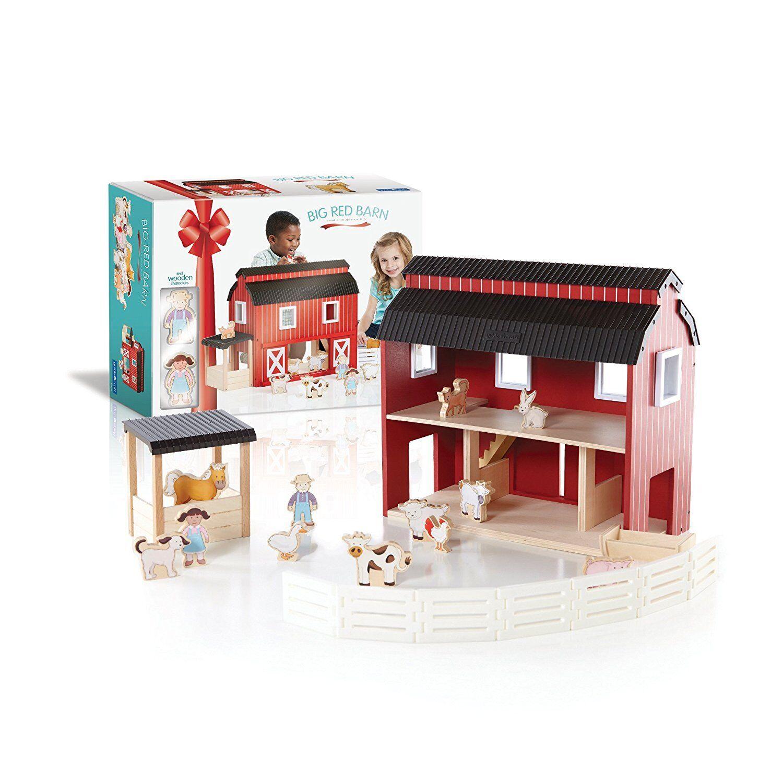 Guidecraft Big Red Barn Barn Barn G99100 Kids Toy 21  x 8.5  x 16  NEW bc9e90