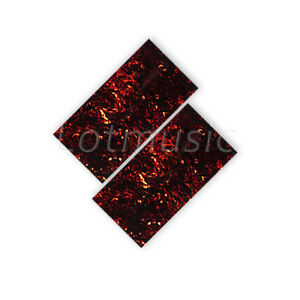 2-Pcs-Flame-Celluloid-Guitar-Head-Veneer-Shell-20x10cm-Headplate-Veneer