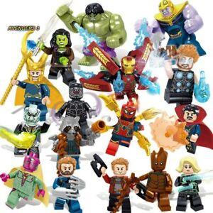 8pc//lot Marvel Super Heroes Avengers Infinity War Mini Figures Lego