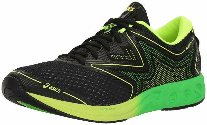 ASICS Men's Noosa FF Running shoes, Black Green Gecko Safety Yellow, 11 D(M) US